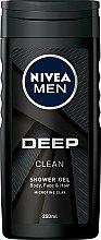Духи, Парфюмерия, косметика Глубоко очищающий гель для душа - Nivea Men Deep Clean Shower Gel