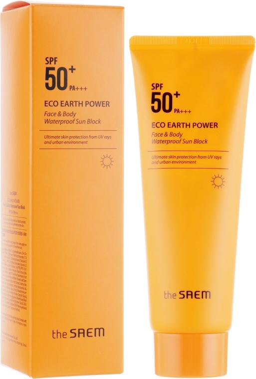 Крем солнцезащитный для лица и тела - The Saem Eco Earth Power Face & Body Waterproof Sun Block