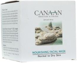 Духи, Парфюмерия, косметика Питательная маска для нормальной и сухой кожи - Canaan Minerals & Herbs Nourishing Facial Mask Normal to Dry Skin