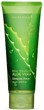 Ночная маска для лица - Nature Republic Real Squeeze Aloe Vera Sleeping Pack