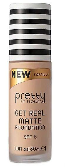 Матирующая тональная основа - Flormar Pretty Get Real Matte Foundation — фото N1