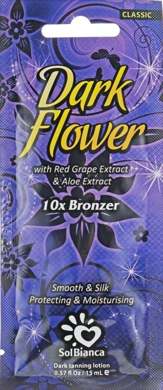 Крем для загара в солярии с экстрактами винограда - SolBianca Dark Flower (пробник)
