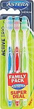 Духи, Парфюмерия, косметика Зубная щетка средней жесткости - Astera Active Trio Medium