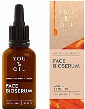 Духи, Парфюмерия, косметика Питательная осветляющая сыворотка для лица - You & Oil Amber. Face Bioserum