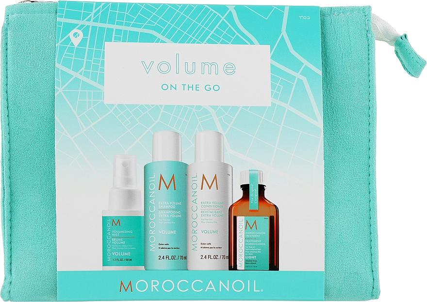 "Набор ""Обьем"" - MoroccanOil Volume On The Go (sh/70ml + cond/70ml + mist/50ml + oil/25ml + bag)"