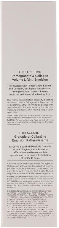 Емульсія з колагеном і екстрактом граната для обличчя  - The Face Shop Pomegranate and Collagen Volume Lifting Emulsion — фото N4