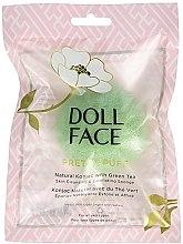 Духи, Парфюмерия, косметика Спонж для лица - Doll Face Pretty Puff Natural Konjac With Green Tea Skin Cleansing & Exfoliating Sponge