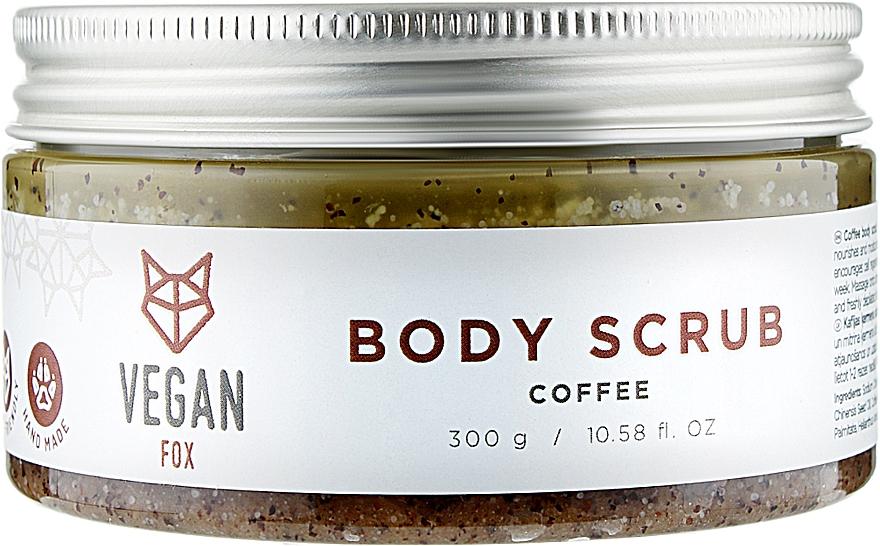 Антицеллюлитный кофейный скраб для тела - Vegan Fox
