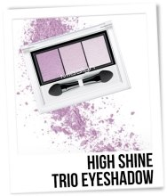 "Тени для век ""Трио"" - Misslyn High Shine Trio Eyeshadow (тестер) — фото N2"