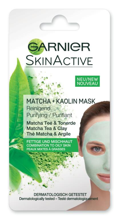 Очищающая каолиновая маска для лица - Garnier SkinActive Matcha + Kaolin Mask