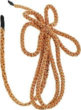 Духи, Парфюмерия, косметика Обруч-шнур для волос, оранжево-бежевый - Элита