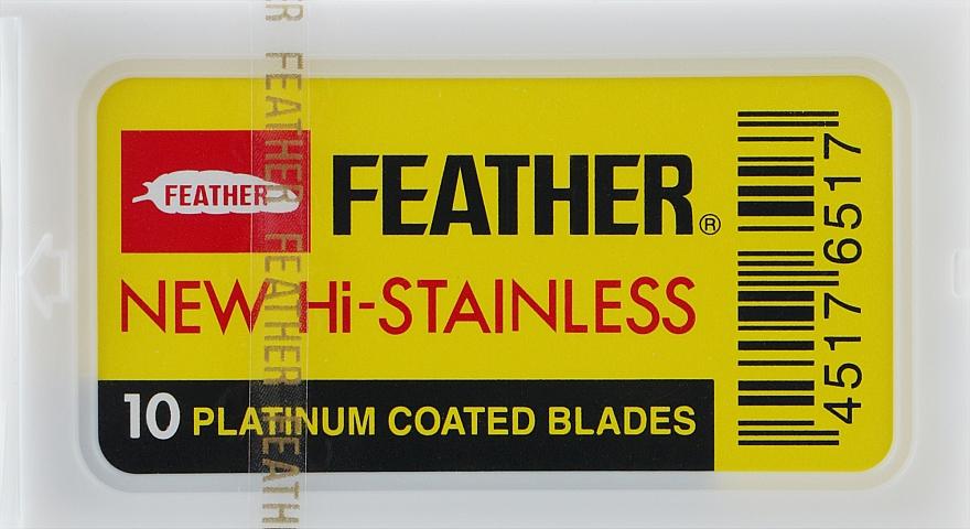 Сменные двусторонние лезвия для классической бритвы 81-S, 10 шт. - Feather 81-S Hi-stainles