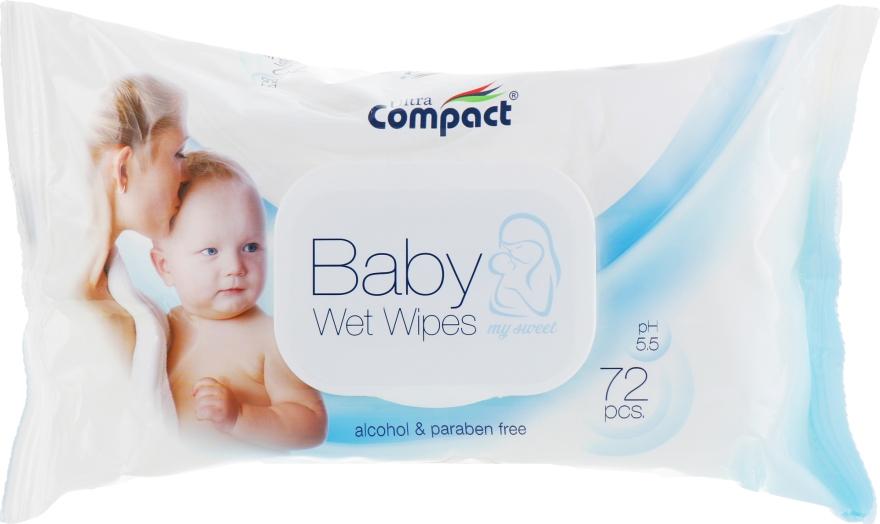 Детские влажные салфетки с клапаном - Ultra Compact Baby Wet Wipes