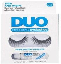 Духи, Парфюмерия, косметика Накладные ресницы с клеем - Duo Lash Kit Professional Eyelashes Style D12