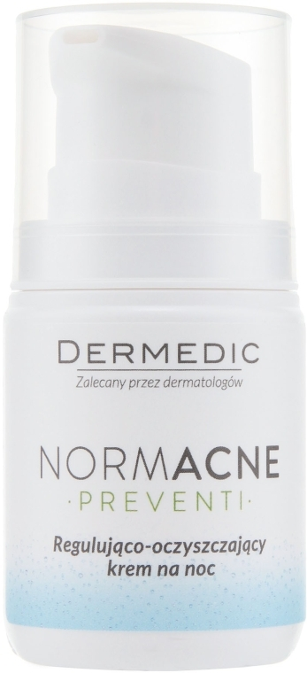 Ночной крем для лица - Dermedic NormAcne Regulating-Cleansing Night Cream