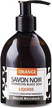 Духи, Парфюмерия, косметика Жидкое черное мыло с апельсиновым маслом - Beaute Marrakech Orange Blossom Black Liquid Soap