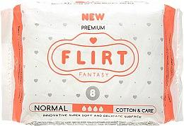 """Духи, Парфюмерия, косметика Прокладки для критических дней """"Premium"""", Cotton & Care, 4 Капли, 8 шт. - Fantasy Flirt"""