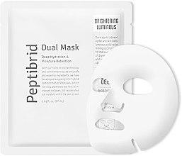 Духи, Парфюмерия, косметика Увлажняющая осветляющая маска для лица - Vitabrid Peptibrid Dual Mask Brightening Luminous