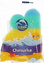 """Духи, Парфюмерия, косметика Детская губка для купания """"Chmurka"""", разноцветная - Ocean"""