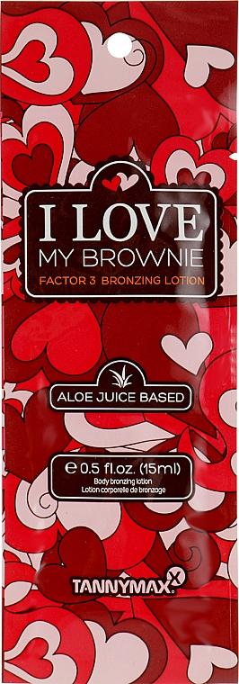 Крем-активатор загара с 3-кратным бронзатором - Tannymaxx I Love My Brownie (пробник)