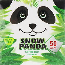 Духи, Парфюмерия, косметика Салфетки бумажные двухслойные, 50 шт - Снежная Панда