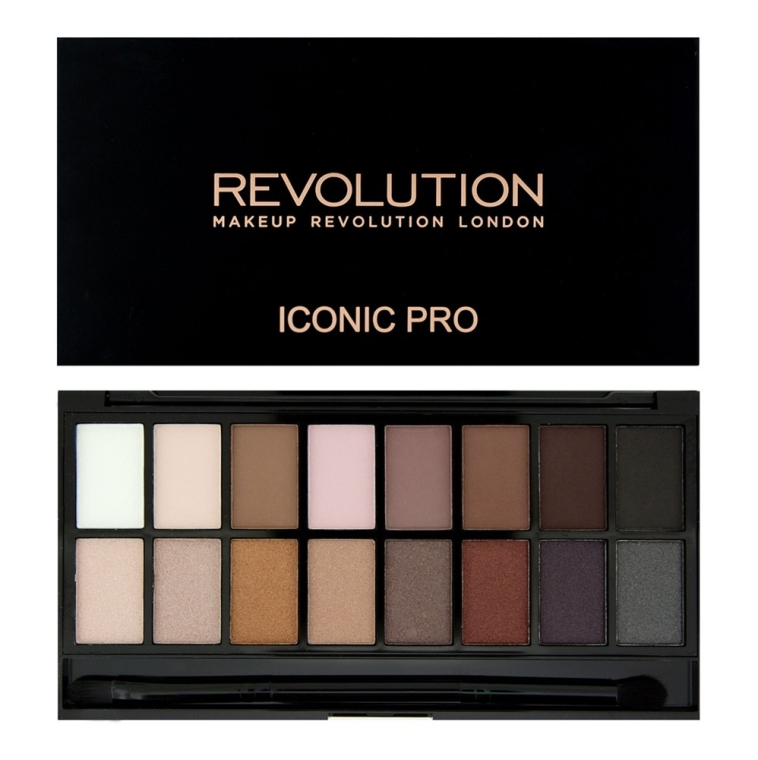 Палетка теней для век, 16 оттенков - Makeup Revolution Salvation Palette Iconic Pro 1