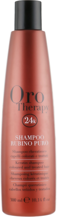 Рубиновый шампунь с кератином для окрашенных волос - Fanola Oro Therapy Shampoo Rubino Puro