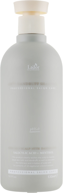 Шампунь против перхоти - La'dor Anti-Dandruff Shampoo