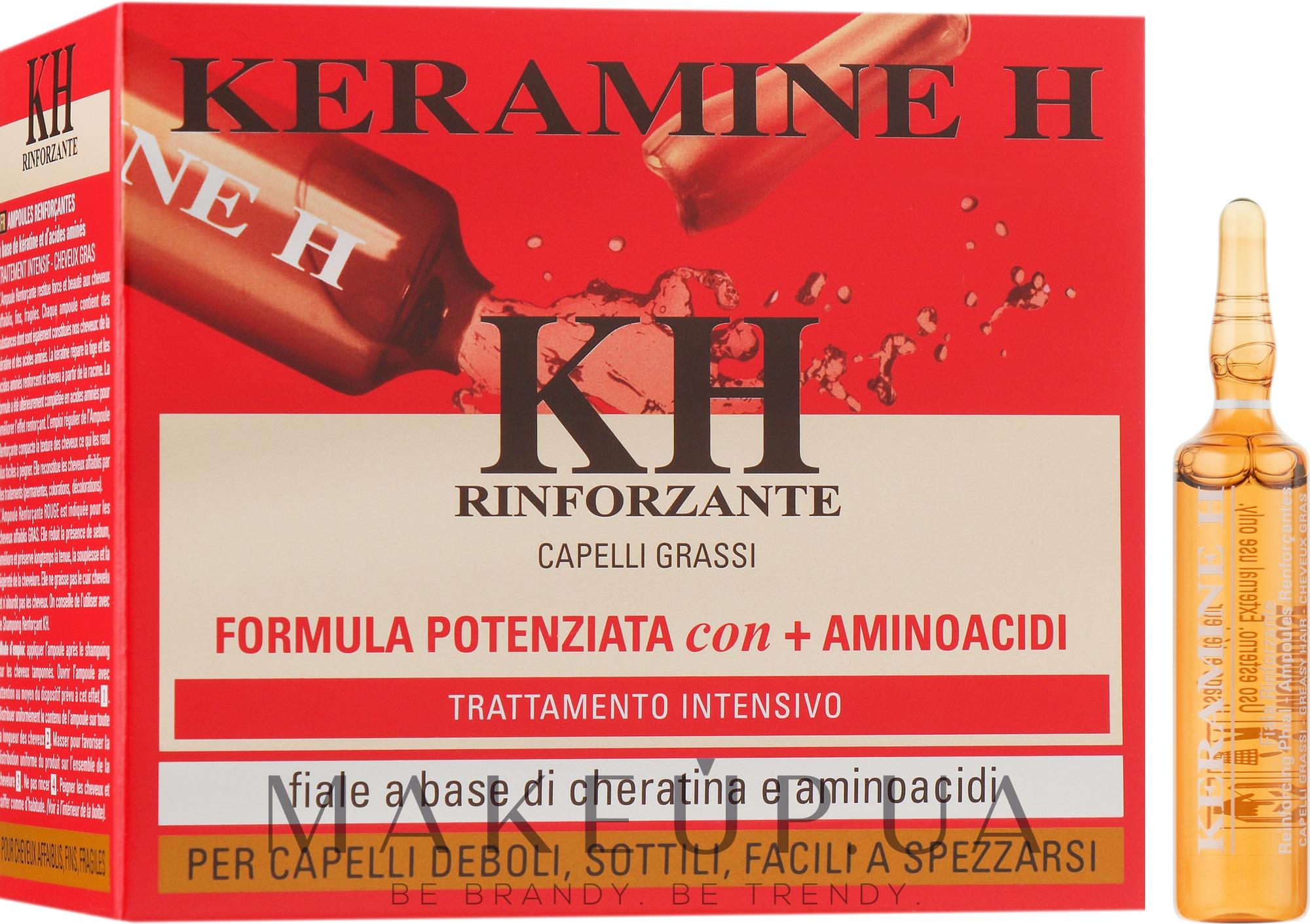 Ампули для зміцнення волосся Червоні - Keramine H Professional Fiale Rinforzante Fascia Rossa — фото 10x10ml