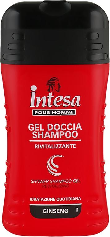 Шампунь-гель для душа c экстрактом женьшеня - Intesa Classic Black Shower Shampoo Gel Revitalizing