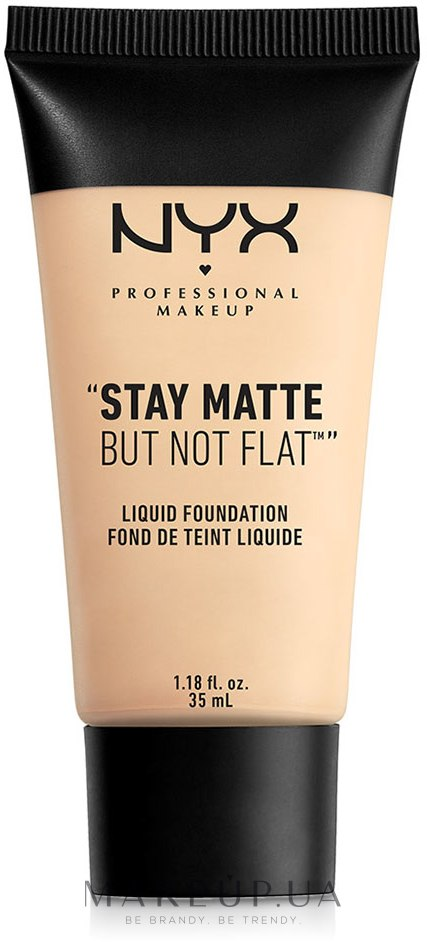 Тональная основа - NYX Professional Makeup Stay Matte But Not Flat Liquid Foundation — фото 01 - Ivory