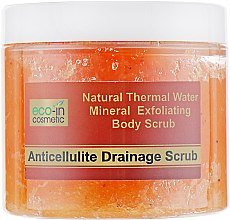Антицеллюлитный скраб, апельсиновый - Eco-in Cosmetic Anticellulite Drainage Scrub — фото N2