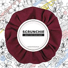 "Духи, Парфюмерия, косметика Резинка для волос трикотаж, бордовая ""Knit Classic"" - MakeUp Hair Accessories"
