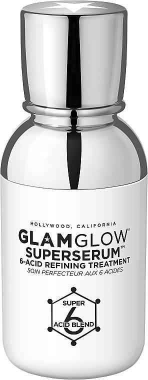 Кислотная сыворотка для очищения и обновления кожи лица - Glamglow SuperSerum 6-Acid Refining Treatment