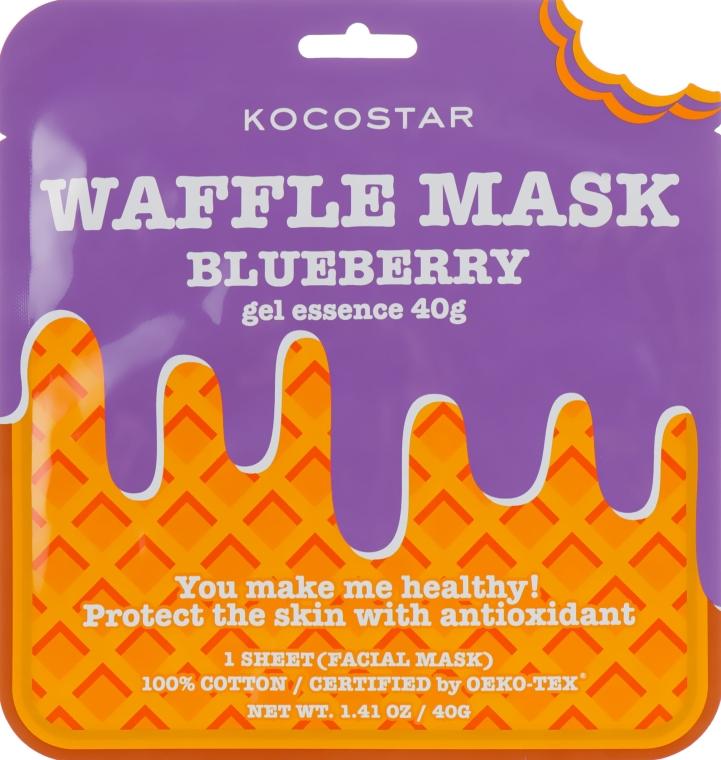 """Противовоспалительная вафельная маска """"Черничный фреш"""" - Kocostar Blueberry Waffle Mask"""