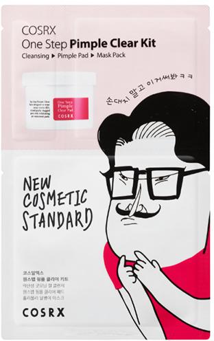Набор - COSRX One Step Pimple Clear Kit (gel/1.2ml + pad/5mlX2EA + mask/21ml)