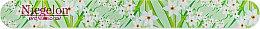 Духи, Парфюмерия, косметика Пилочка для маникюра, 0555, салатовая с белыми цветами - Niegelon Solingen