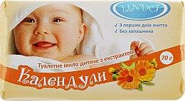 Духи, Парфюмерия, косметика Мыло туалетное детское с экстрактом календулы - Lindo
