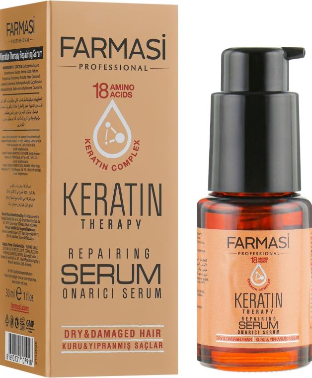 Сыворотка для волос с кератином - Farmasi Keratin Therapy Repairing Serum