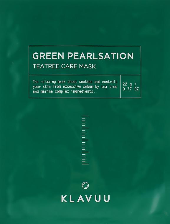 Расслабляющая маска для лица - Klavuu Green Pearlsation Tea Tree Care Mask