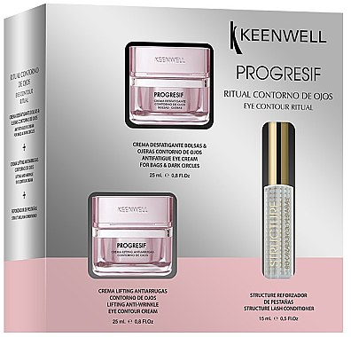 Набор для глаз - Keenwell Progresif Eye Contour Ritual (eye/cr/25ml+eye/cr/25ml+conc/15ml) — фото N1