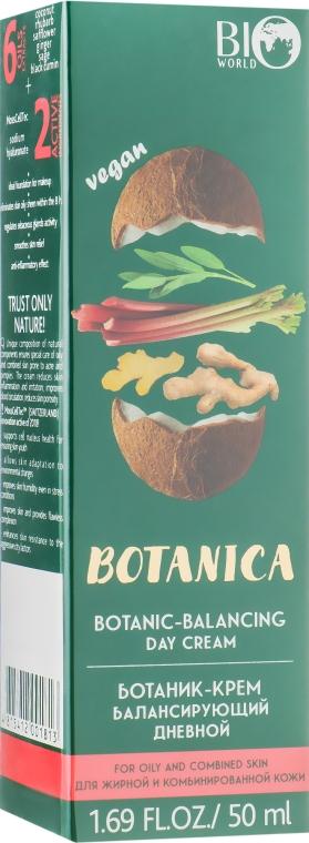 Ботаник-крем балансирующий, дневной, для жирной и комбинированной кожи - Bio World Botanica Botanic-Balancing Day Cream