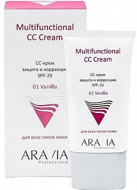 Защитный СС-крем SPF-20 - Aravia Professional Multifunctional CC Cream