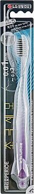 Зубная щетка с мягкой щетиной, фиолетовая - LG Household & Health Perioe Gum Care Black — фото N1