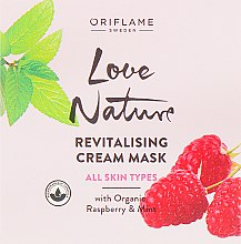 Духи, Парфюмерия, косметика Восстанавливающая маска для лица с малиной и мятой - Oriflame Love Nature Revitalising Cream Mask