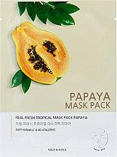 """Духи, Парфюмерия, косметика Тканевая маска для лица """"Папайя"""" - Joylife Papaya Mask Sheet"""