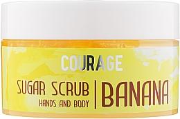 Духи, Парфюмерия, косметика Сахарный скраб для рук и тела «Банан» - Courage Banana Hands&Body Sugar Scrub