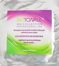 """Духи, Парфюмерия, косметика Биоцеллюлозная осветляющая маска для лица """"Косметическая биокожа"""" - Biotonale Lightening Biocellulose Face Mask"""