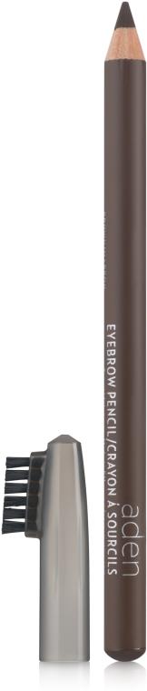 Карандаш для бровей со щёткой - Aden Cosmetics Eyebrow Pencil