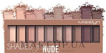 Палетка теней для век - Misslyn Must-Have Eyeshadow Shades — фото 04 - Shades Of Nude